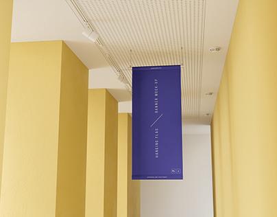 Hanging Flag Banner Mockup