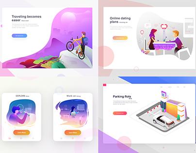 Web illustrationss