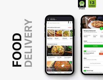 FOOD DELIVERY UI KIT with android code