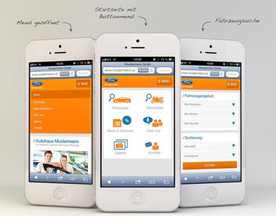 Mobile Car Dealer Website
