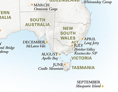 Australian Geographic Panoramas Calendar 2014