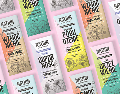 NATJUN Four Seasons Tea packaging