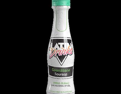 Botella 3d (Latin Drinks Guanábana)
