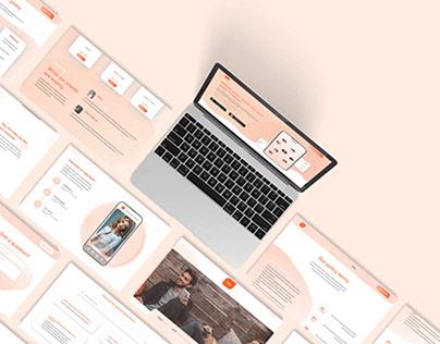 "Web design for ""Hey"" app"