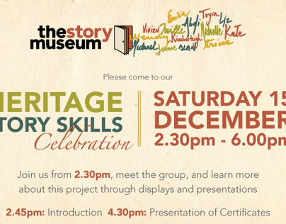 Heritage Story Skill - The Story Museum