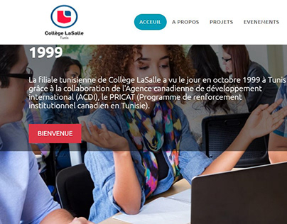 Conception d'un web magazine pour Collége LaSalle Tunis
