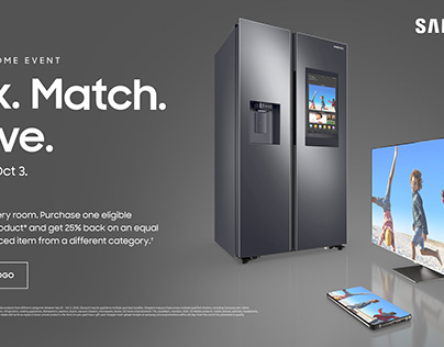 Samsung Total Home Event Print and Digital Ads