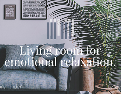 Living room for emotional relaxation.