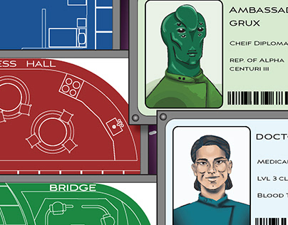 Space Clue: boardgame redesign