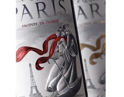 """French wine design """"Le Charme de Paris"""""""