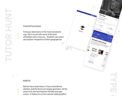 Android Presentation: Tutor Finder