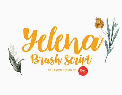 Yelena - Free Brush Script Font