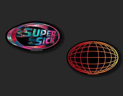 SUPERSICK & WORLDWIDE stickers
