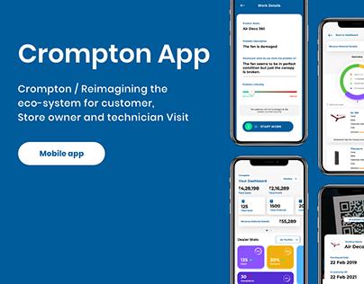 UX UI crompton app