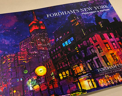 Illustrations for Fordham University NYC Annual Report