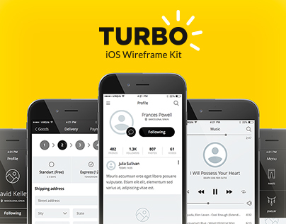 TURBO iOS Wireframe Kit
