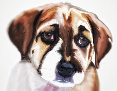 Illustration: Charlie B. Barking as a puppy..