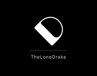 Sophisticated Black & White Logo - The Lone Drake