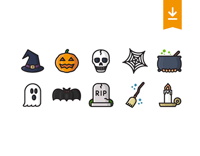 Halloween icon set (freebie)