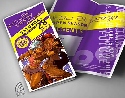 Poster Roller derby & Vinil party