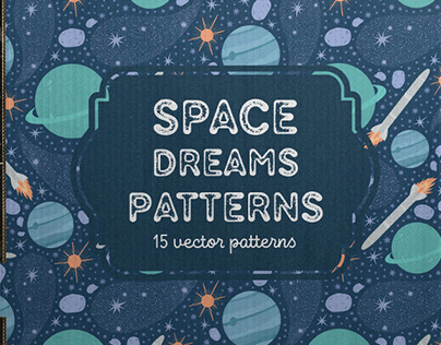 Space dreams patterns collection by Piñata