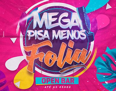 Flyer Carnaval - Pisa Menos Folia