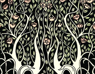 """Aubrey Beardsley"" deck illustration"