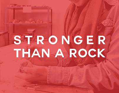 """Stronger than a Rock"" Poster Design"