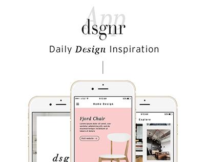 Designr App — Daily Design Inspiration
