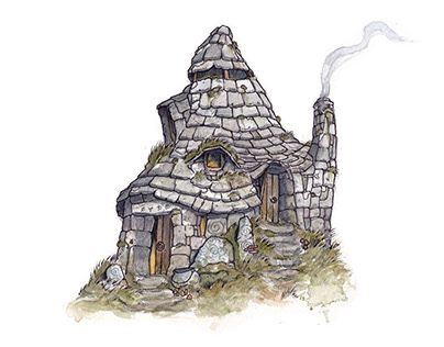 The Witch's Hovel - Animated Illustration.