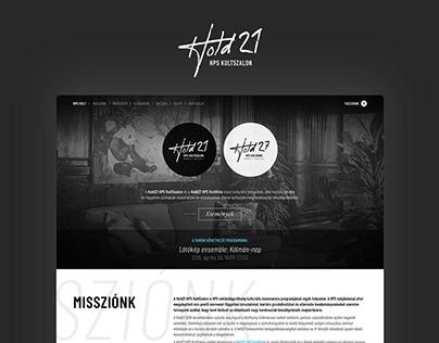 Branding and website design for HPS Kult venues