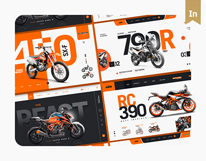 KTM Motocycle Landing Page Design