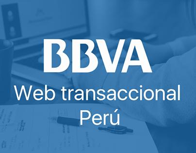 BBVA Web transaccional Perú