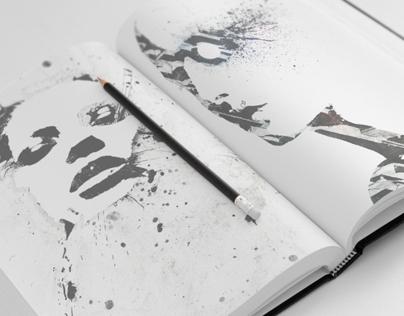Sketch Book Mock-Ups - Set 01
