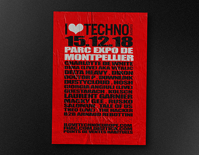 I LOVE TECHNO 2018 - Art Direction