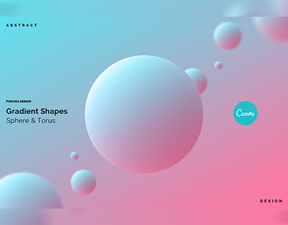 gradient shapes - sphere & torus