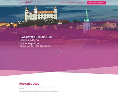 New design website for the congress - Bratislava Dental