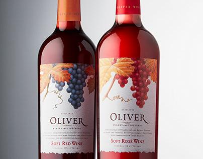 OLIVER SOFT RED WINE AND OLIVER SOFT ROSE
