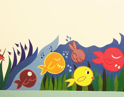 Pequeño mural infantil