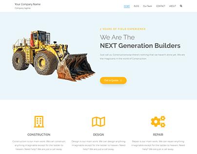 Construction Responsive Website