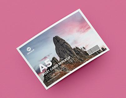 Free Post Card Mockup