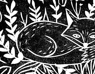 Nature Lino Prints