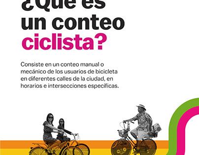 Invitación para conteo ciclista (Labici)