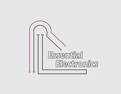 Electronics Minimal Line Art Logo Design