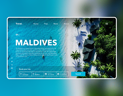 Travel website concept home page