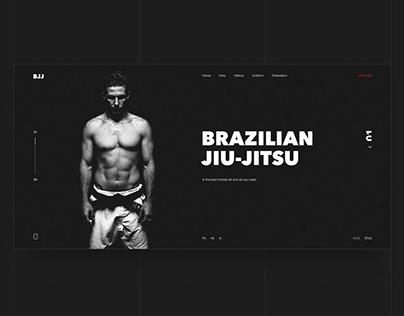 Brazilian jiu-jitsu website concept