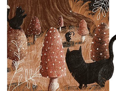Children's illustrations - Scenes from the forest