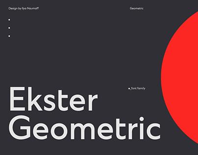 Ekster font & graphics