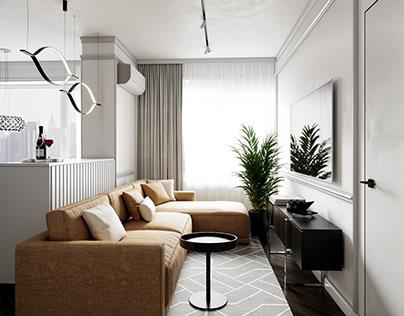 Vizualization living room
