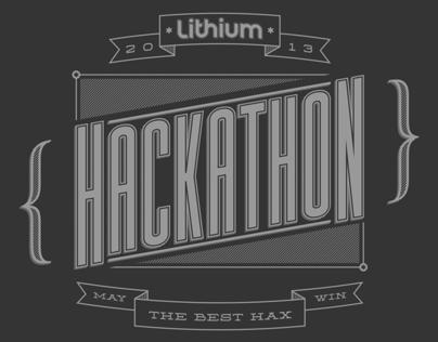 Hackathon T-shirt for Lithium Technologies